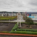 歩道橋から見えた時計台(10月9日)