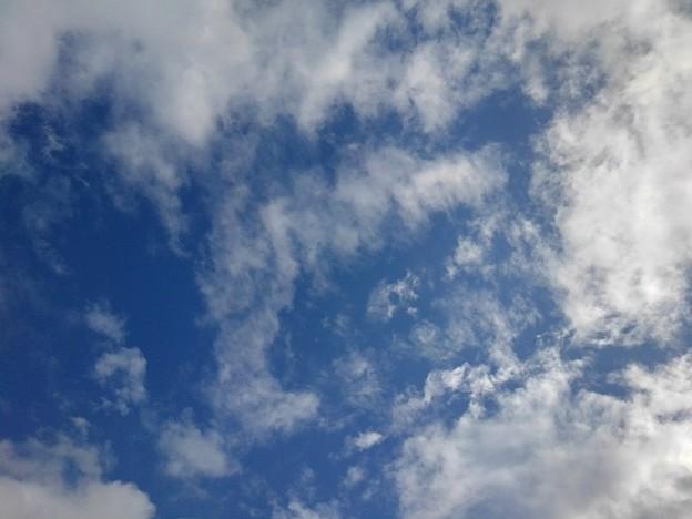 鱗雲もある青空(9月27日)