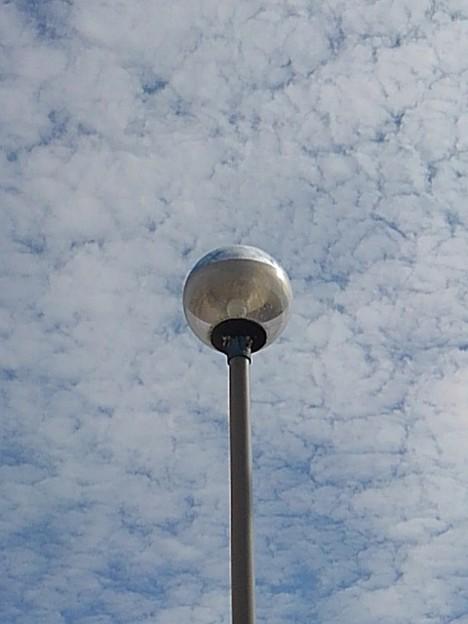 鱗雲と街灯(10月7日)