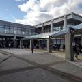 県北体育館の入口(10月25日)