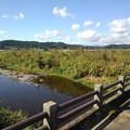 橋の欄干と川の景色(10月21日)