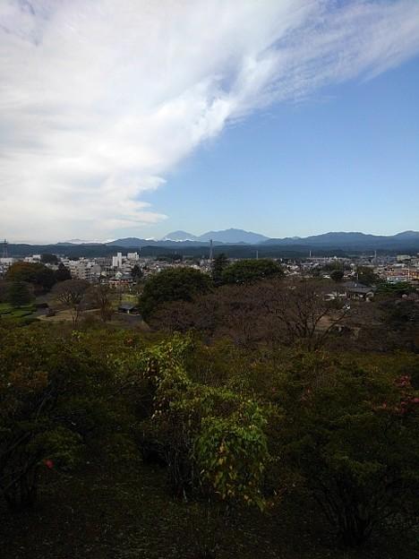 丘の階段から見えた日光連山(10月16日)