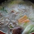 豚肉と野菜と春雨の鍋料理(11月9日)