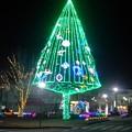 矢板駅イルミ・クリスマスツリー風(12月5日)