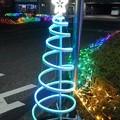 矢板駅イルミ・螺旋状(12月5日)