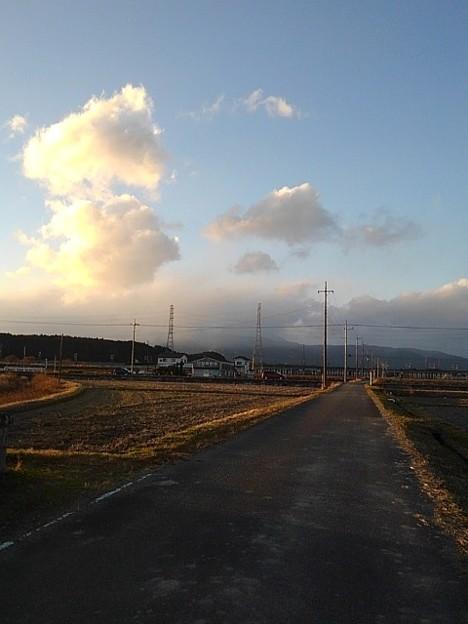 田園地帯の道(11月28日)