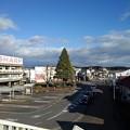 歩道橋からの矢板駅(12月4日)