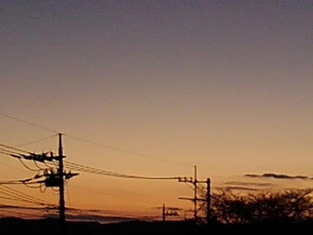 オレンジ夕日(12月6日)