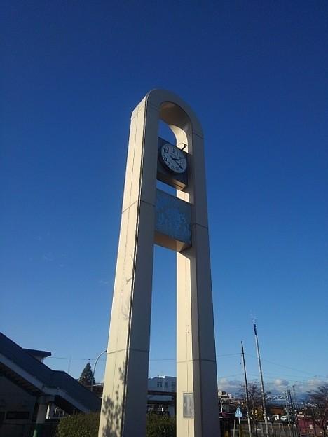 小さな公園の時計台(12月4日)