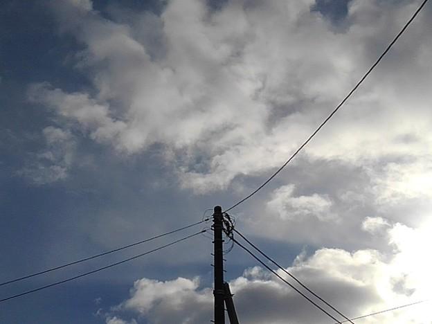 電柱と雲(12月15日)