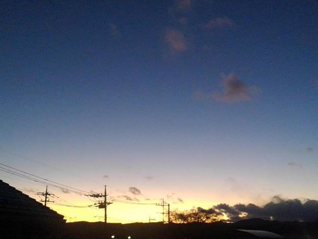 大みそかの夕日