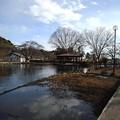 烏ケ森公園の池の映り込み(1月2日)