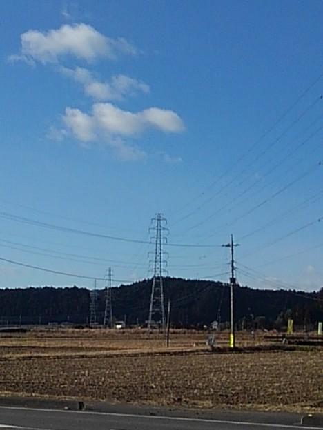 田園地帯の鉄塔(12月26日)
