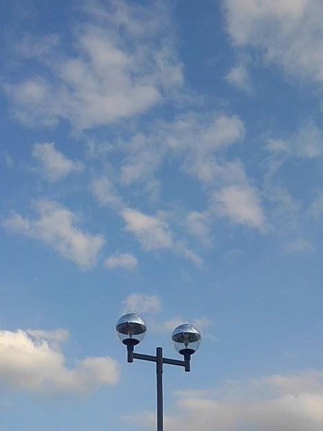 空と街灯(12月27日)
