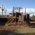 小さな公園の遊具(12月30日)