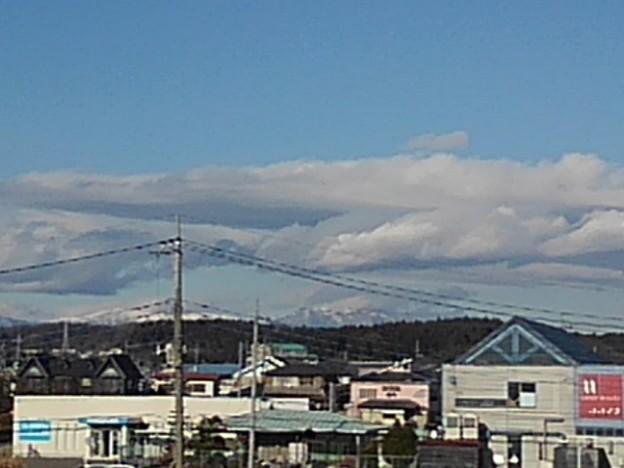 屋上駐車場から見えた那須の山(12月30日)