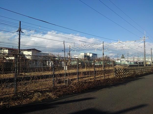 矢板駅近くの道(12月30日)