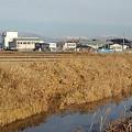 Photos: 街並みと川と山(1月7日)