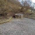 Photos: 丘の有効活用したベンチ(1月1日)