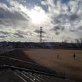 Photos: 雲も綺麗な長峰公園の芝生広場(1月1日)