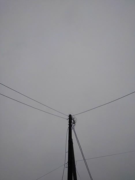 雪が降りそうな空(1月23日)