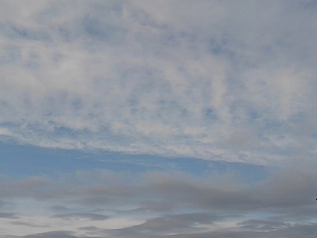 晴れ間が少し広がった空(1月17日)