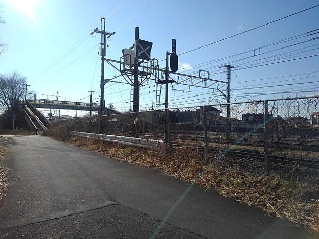 線路沿いの道(1月18日)
