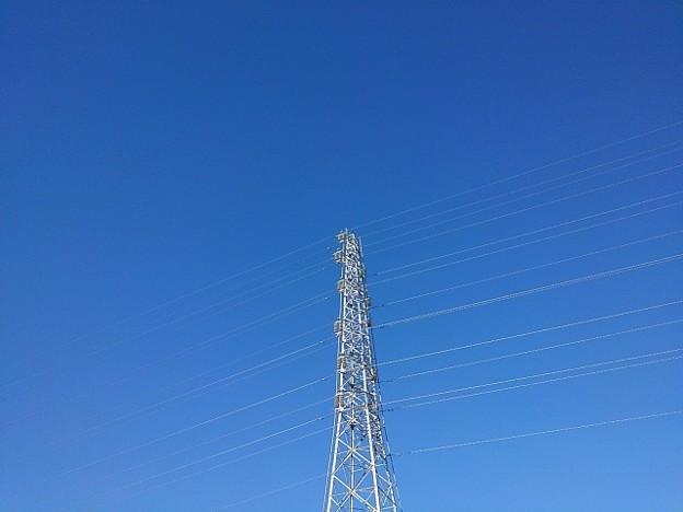 鉄塔と青空の共演(1月20日)
