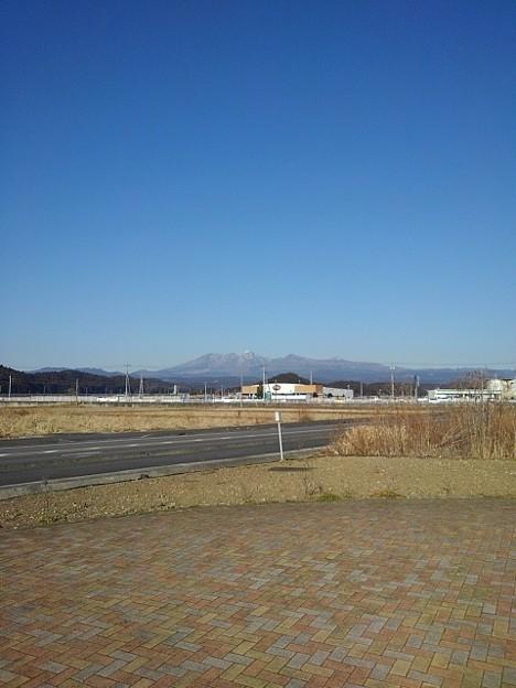 道の駅から山の見える景色(1月21日)