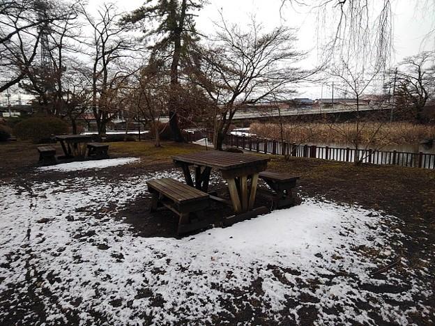 長峰公園のテーブル広場(1月24日) (2)