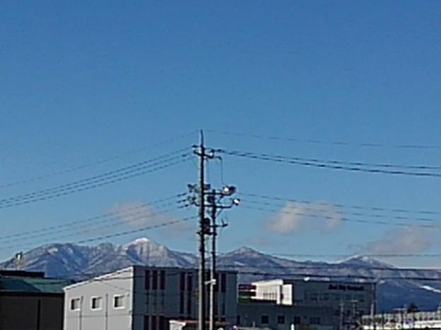 道から見えた高原山(1月31日)