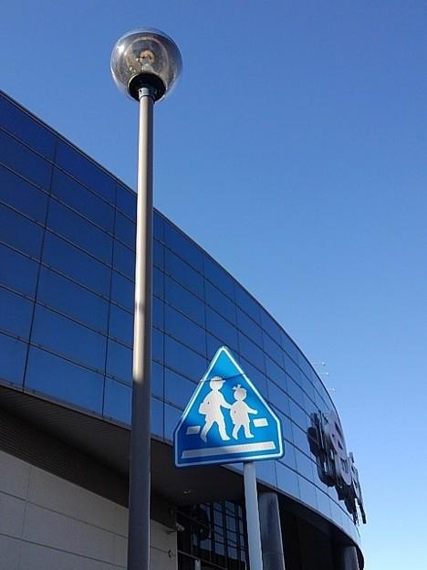 街灯と標識とガラス張り(1月31日)
