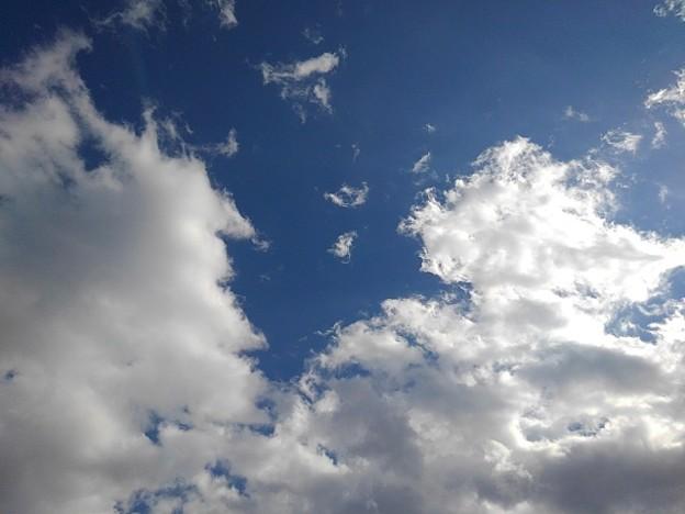 太陽を隠した雲と青空(2月2日)