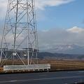 山と鉄塔の景色(2月2日)