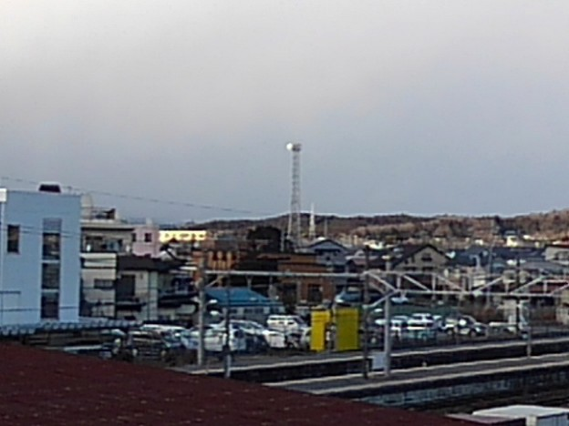 街中の鉄塔のある景色(1月29日)