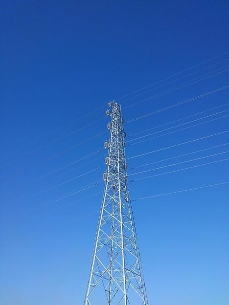 鉄塔と綺麗な青空(2月6日)
