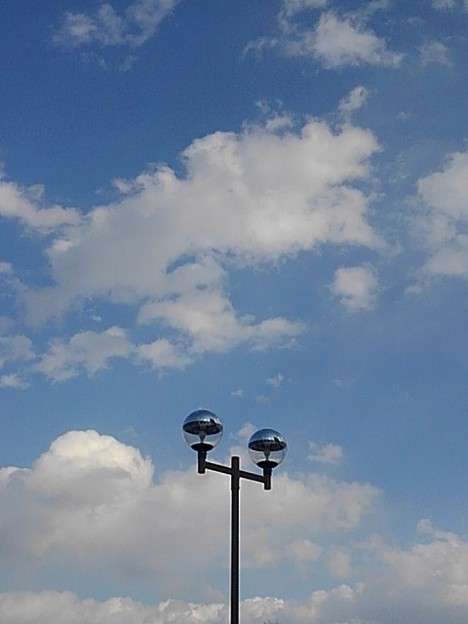 街灯と空(2月7日)