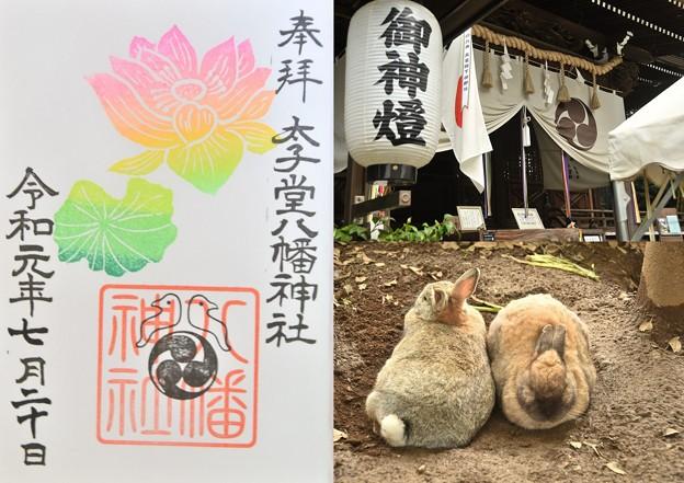 Photos: 太子堂八幡神社の御朱印(令和元年7月)