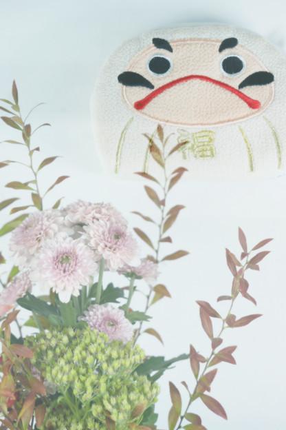 達磨さんのポーチ(お土産)