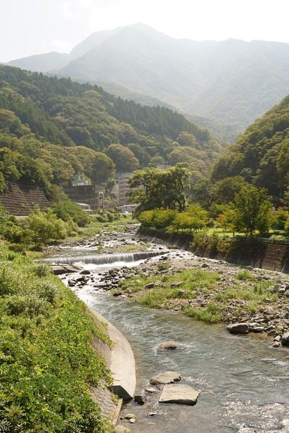 メロディーが流れる橋からの光景