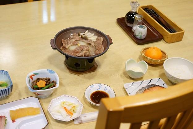 宿のディナー