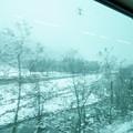 雪景色 車窓より