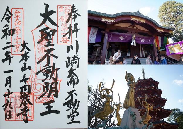 川崎大師、御朱印(不動堂)2020