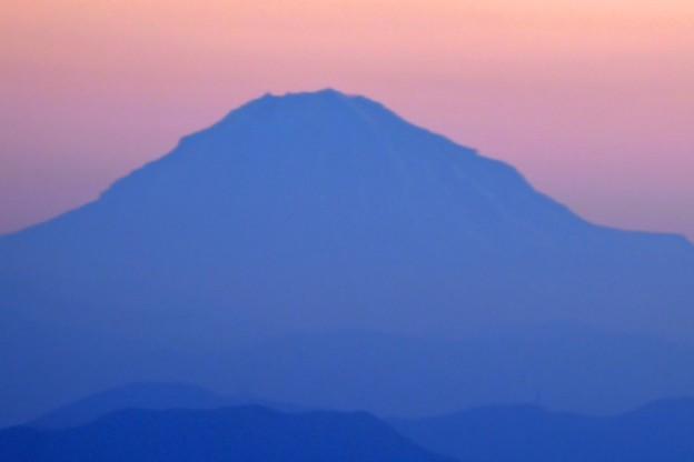 写真: 等倍切り取りの富士山