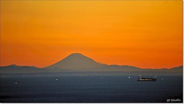 遠目の富士山 194km