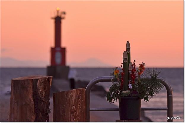 お正月の灯台