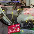 ラビット S301A エアクリーナーチューブの代用修理