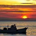 伊勢湾の夜明け