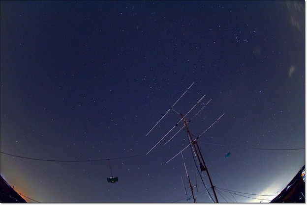 ふたご座流星群の前撮りw