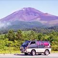 懐かしのマイカーと富士山